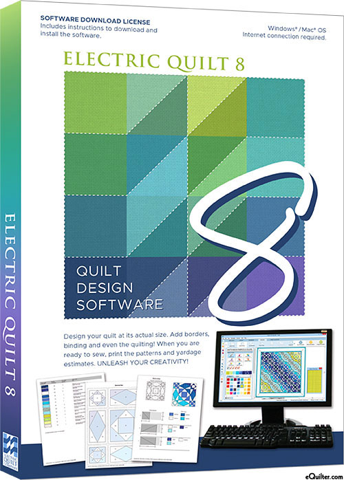 eQuilter EQ8 - Complete Quilt Design Software - MAC & PCQuilt Drawing Program