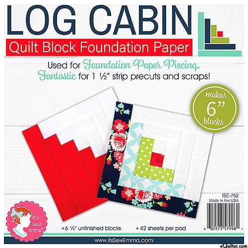 "Log Cabin Quilt Block Foundation Paper - 6"" Blocks"