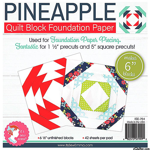 "Pineapple Quilt Block Foundation Paper - 6"" Blocks"