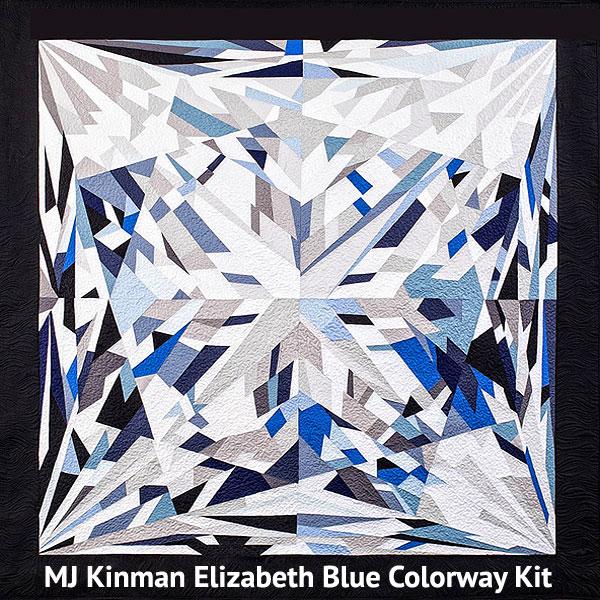 Elizabeth Diamond QUILT KIT - Classic BLUE - Kona Cotton