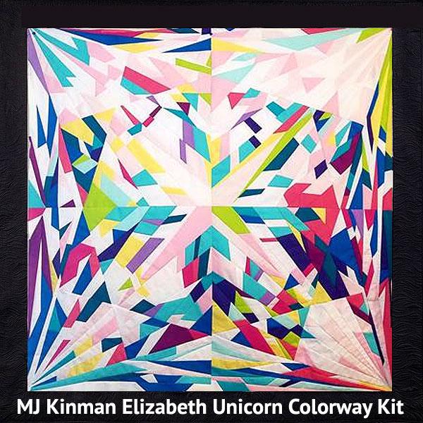 Elizabeth Diamond QUILT KIT - Rainbow Unicorn - Kona Cotton