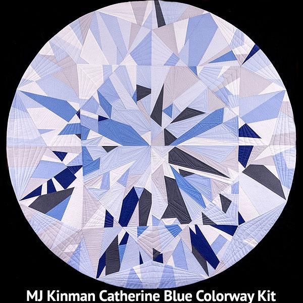 Catherine Diamond QUILT KIT - Classic BLUE - Kona Cotton
