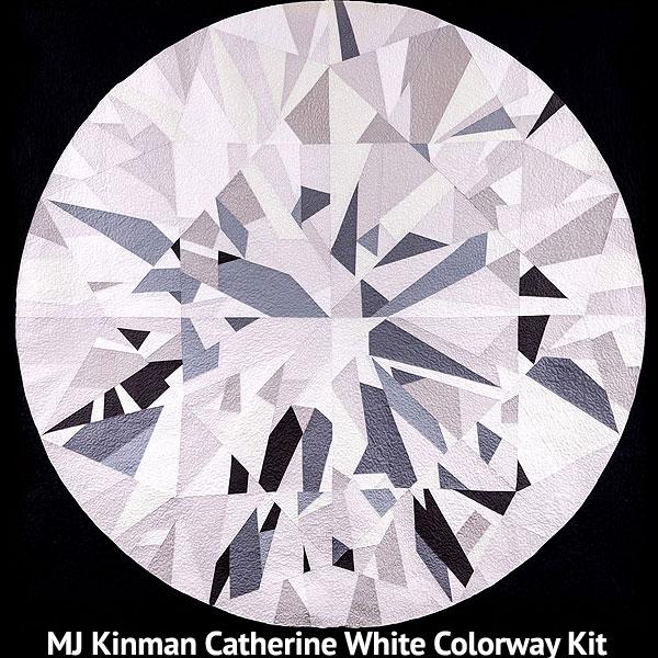 Catherine Diamond QUILT KIT - White & Gray - Kona Cotton