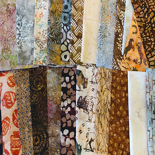 eQuilter's Famous Warehouse SCRAP PACK – Earth & Neutral BATIKS