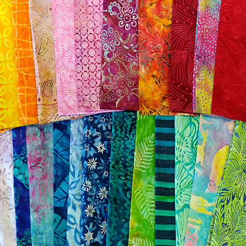 eQuilter's Famous Warehouse SCRAP PACK – Bright & Jewel BATIKS