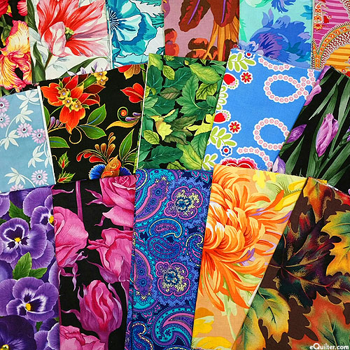 Booty Pack - eQuilter FLOWER POWER Assorted Scraps