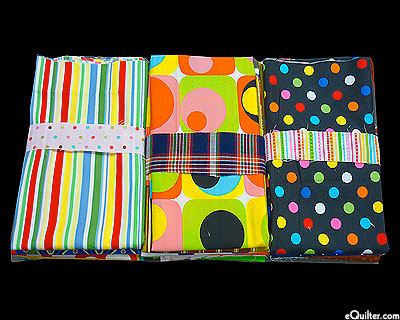 Booty Pack - eQuilter DOT STRIPE MOD Assorted Scraps
