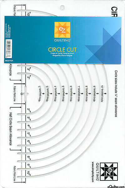 Easy Circle Cut Template by Sharon Hultgren