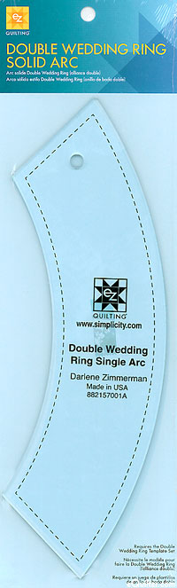 Double Wedding Ring Solid Arc Template