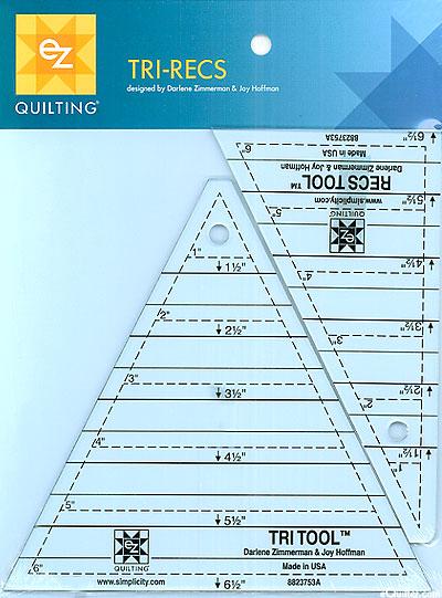 "Tri-Recs Tools - TWO 6"" acrylic triangle tools"
