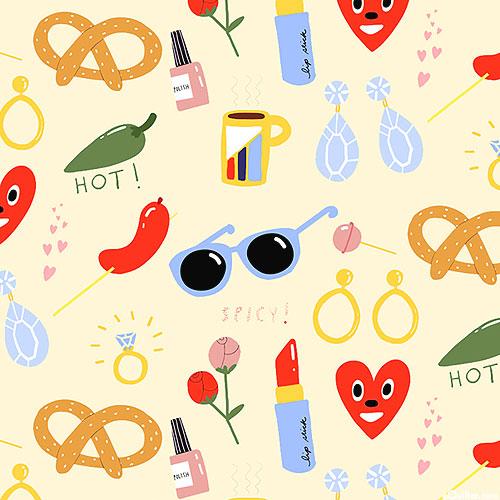 Friends & Faces - Spicy Fashion - Cream - DIGITAL PRINT