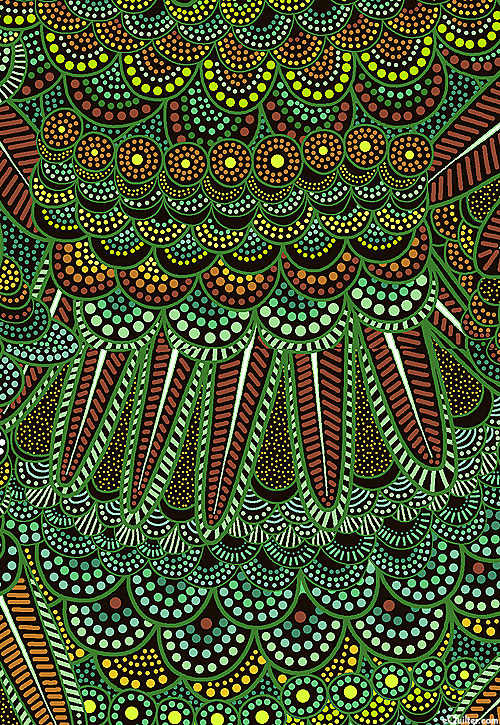 Goanna Walkabout - Feathers & Scales - Emerald Green