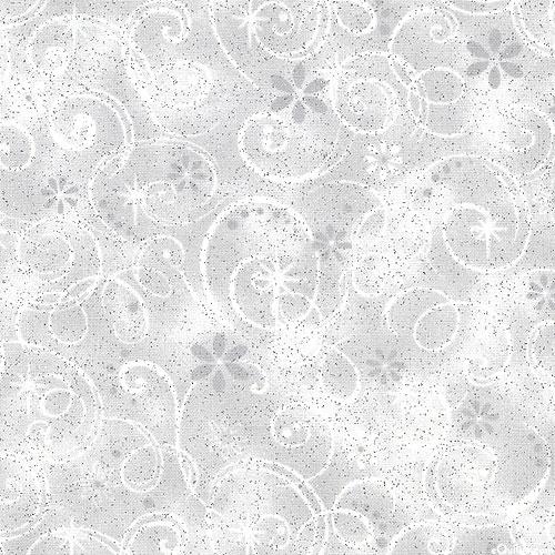 Fairy Swirls - Pewter Gray/Glitter