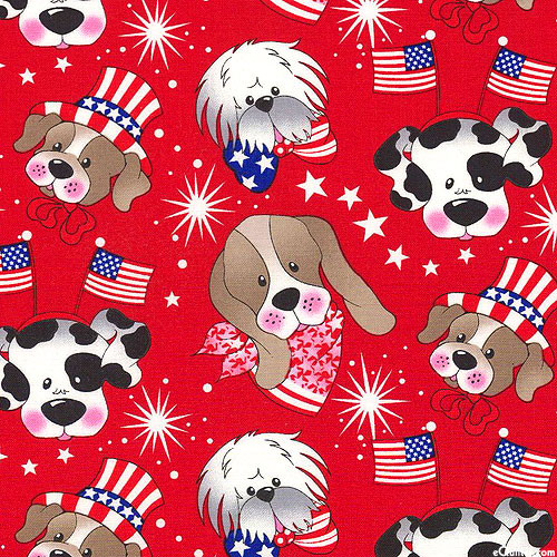 Independence Day Dogs - Ruby Red