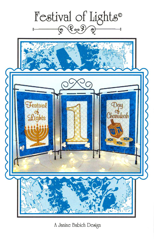 Festival of Lights - Embroidery Pattern by Janine Babich Design
