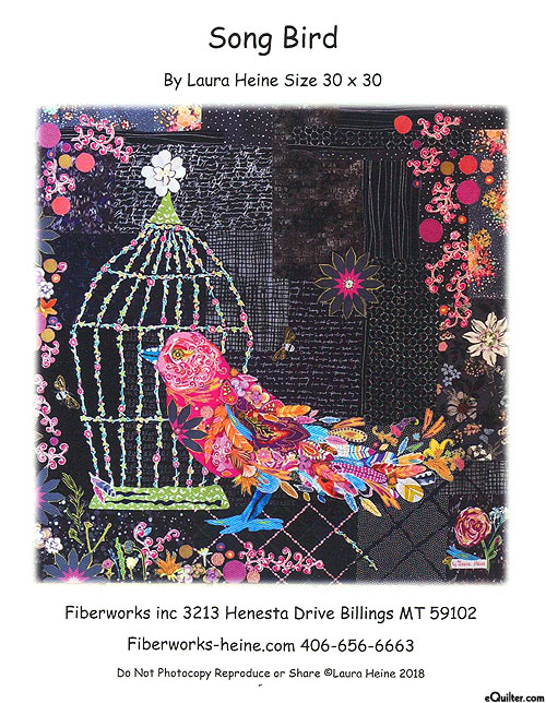 Song Bird - Fusible Collage Pattern by Laura Heine