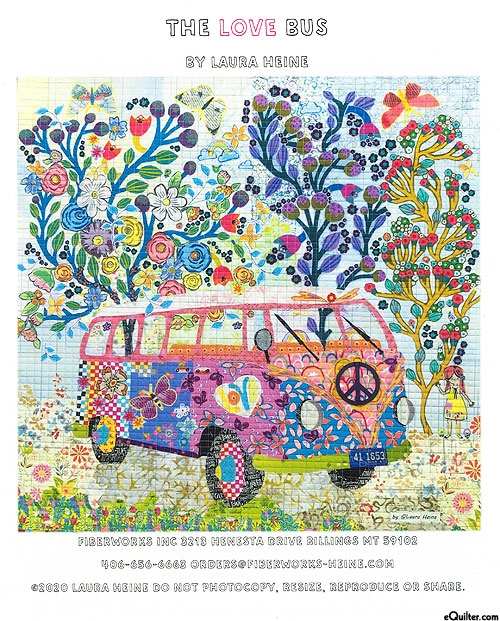 The Love Bus - Fusible Collage Pattern by Laura Heine