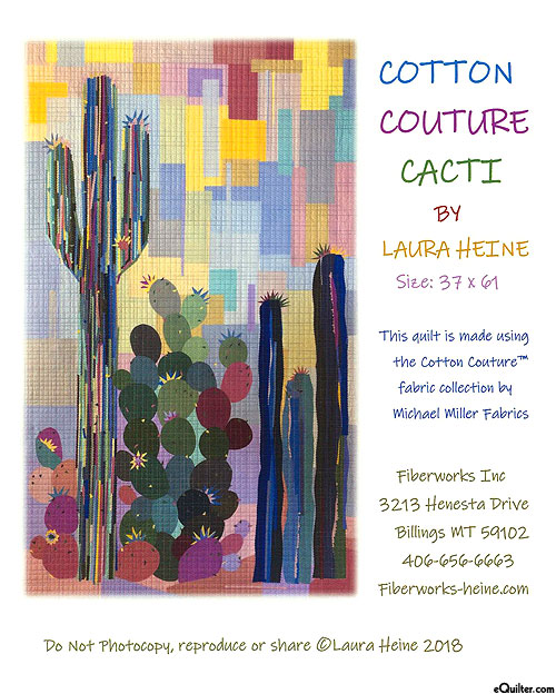 Cotton Couture Cacti - Collage Pattern by Laura Heine