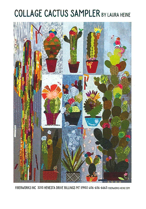 Collage Cactus Sampler - Fusible Collage Pattern by Laura Heine