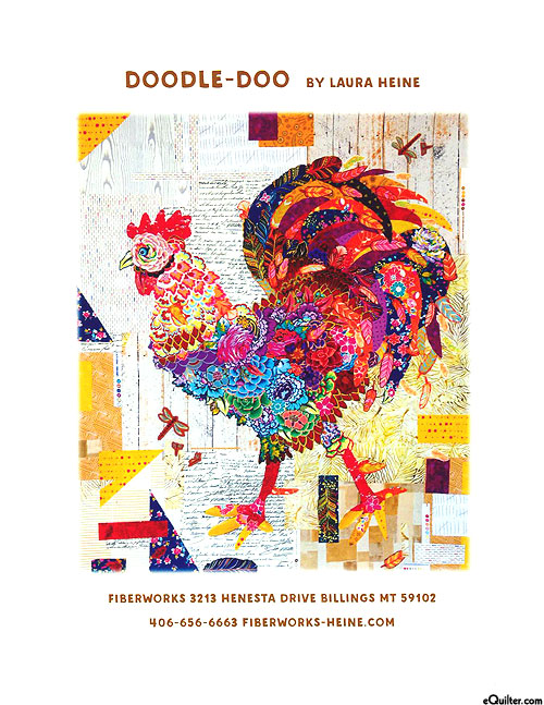 Doodle Doo - Fusible Collage Pattern by Laura Heine