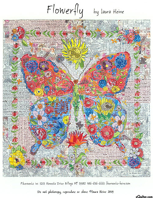 Flowerfly - Fusible Collage Pattern by Laura Heine