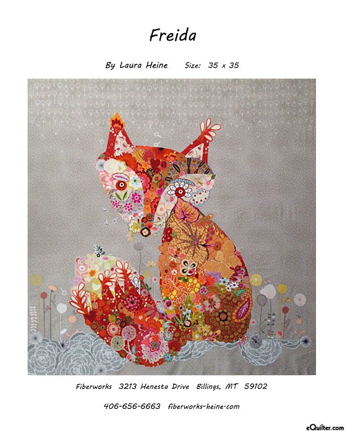 Freida Fox - Fusible Collage Pattern by Laura Heine