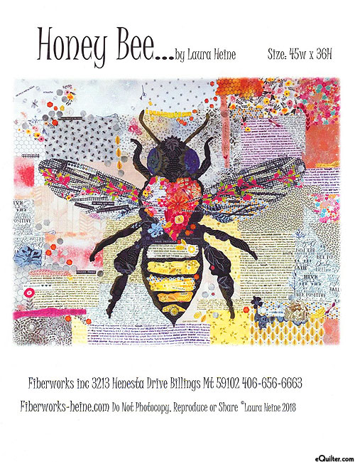 Honey Bee - Fusible Collage Pattern by Laura Heine