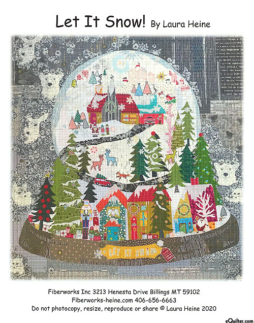 Let It Snow - Fusible Collage Pattern by Laura Heine
