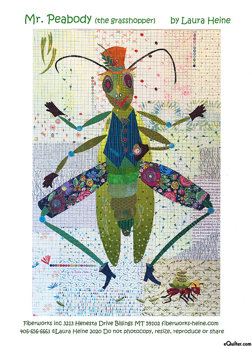 Mr. Peabody - Fusible Collage Pattern by Laura Heine