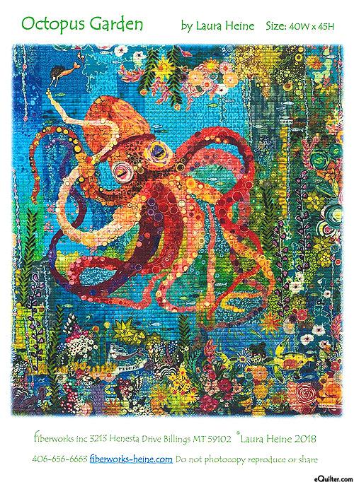 Octopus Garden - Fusible Collage Pattern by Laura Heine