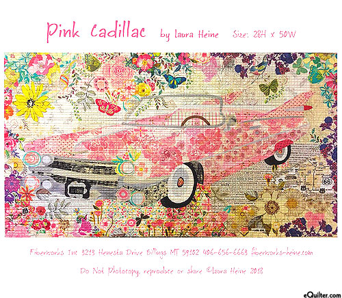 Pink Cadillac - Fusible Collage Pattern by Laura Heine