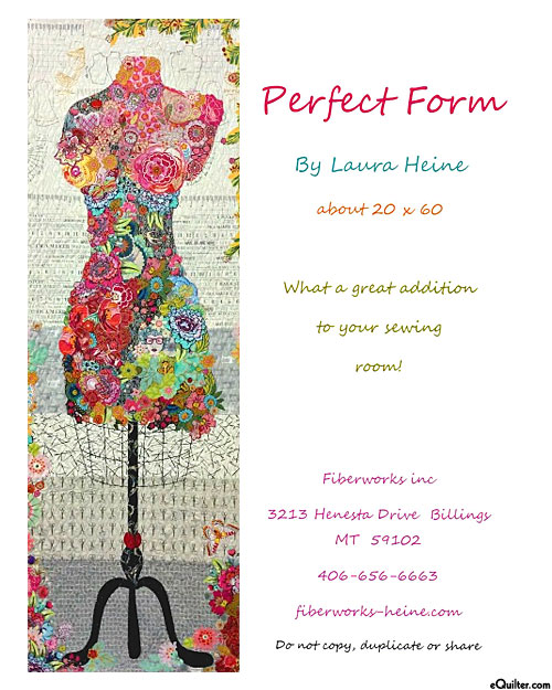 Perfect Form - Fusible Collage Pattern by Laura Heine
