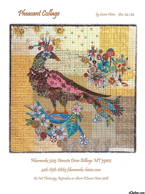 Pheasant - Fusible Collage Pattern by Laura Heine
