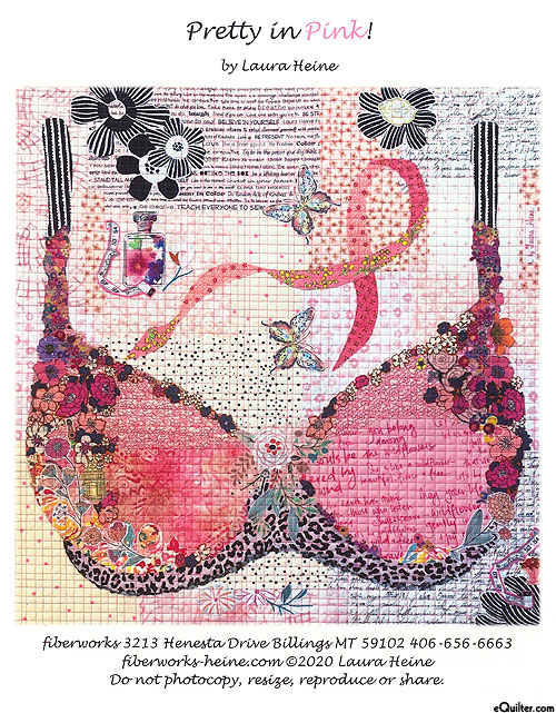 Pretty In Pink - Fusible Collage Pattern by Laura Heine