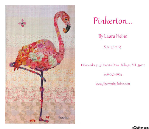 Pinkerton Flamingo - Fusible Collage Pattern by Laura Heine