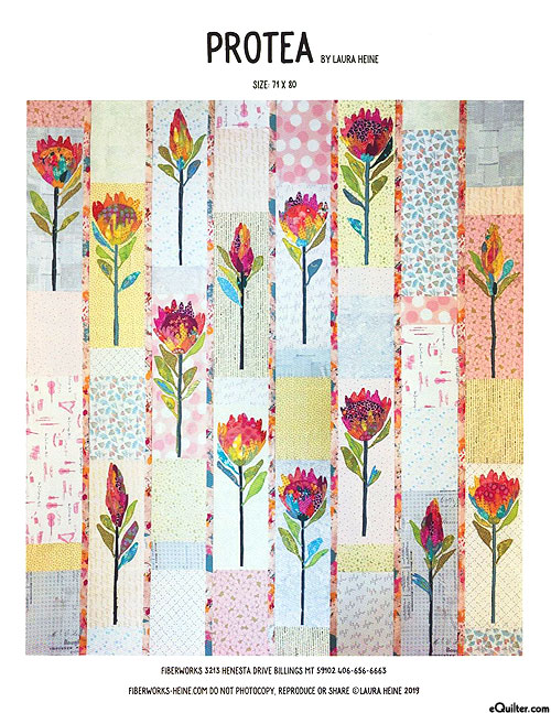 Protea - Fusible Collage Pattern by Laura Heine
