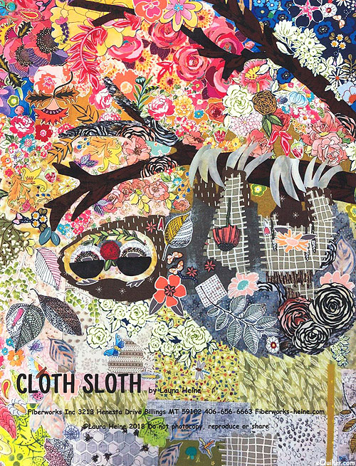Cloth Sloth - Fusible Collage Pattern by Laura Heine