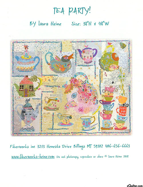 Tea Party - Fusible Collage Pattern by Laura Heine