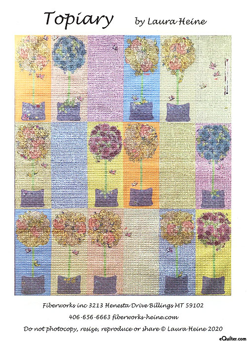 Topiary - Fusible Collage Pattern by Laura Heine