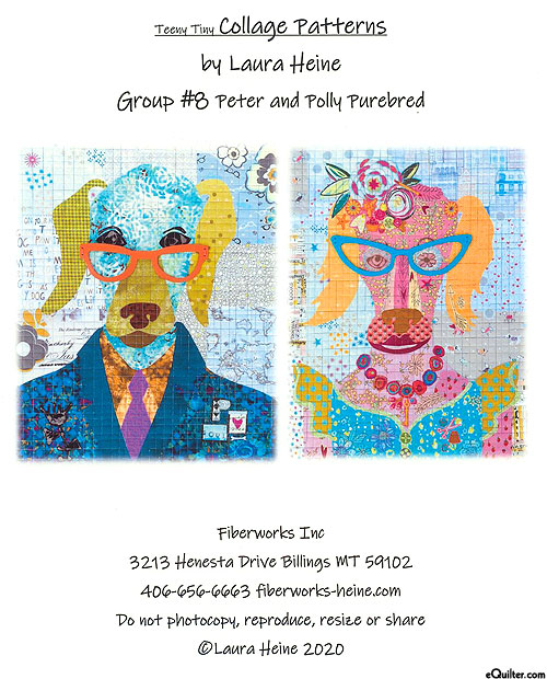 Peter & Polly Purebred - Fusible Collage Pattern by Laura Heine