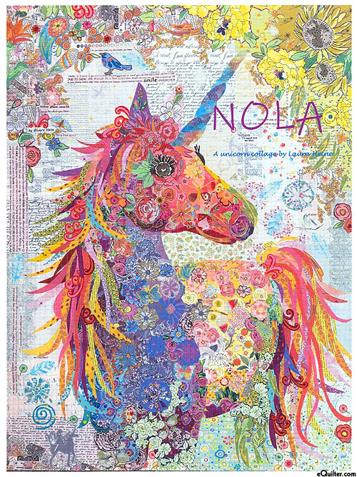 Nola Unicorn - Fusible Collage Pattern by Laura Heine