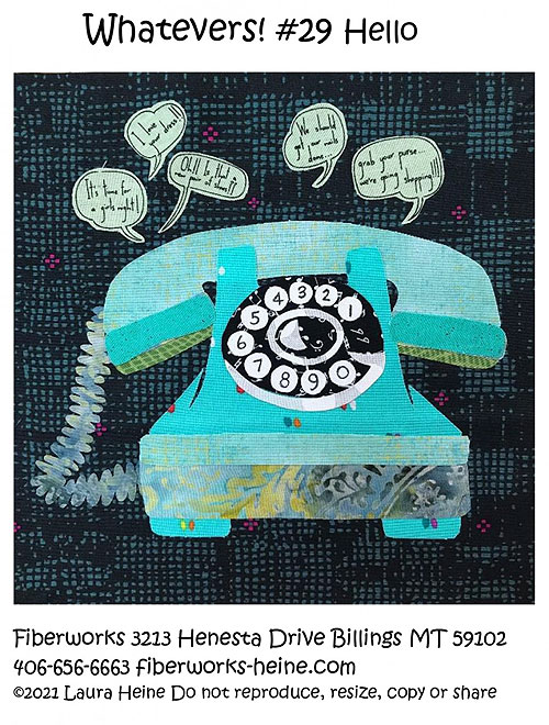 Whatevers! Hello - Fusible Collage Pattern by Laura Heine