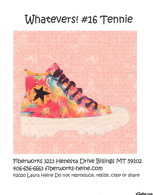 Whatevers! Tennie - Fusible Collage Pattern by Laura Heine