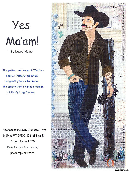Yes Ma'am! - Fusible Collage Pattern by Laura Heine