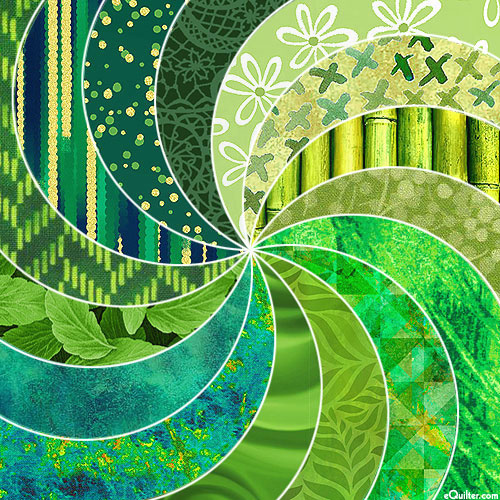 eQuilter COLOR PALETTE - Bright Beautiful GREENS!