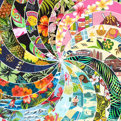 Island Vacation & Hawaiian Novelty - Fat Quarter Collection