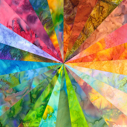 Art Quilter's *Rainbow Brights* HAND-DYE PACKET