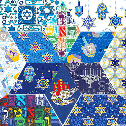 Judaica Collection - Blue/Multi FQ Packet