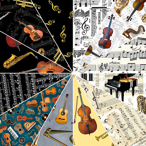 Classical Musical Collection - Notes and Instruments