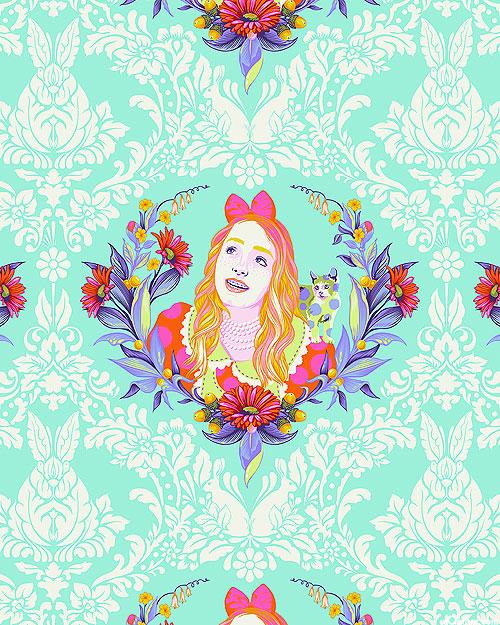 Curiouser & Curiouser - Alice - Seafoam